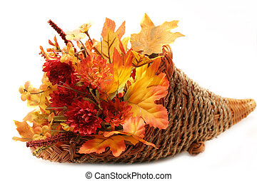 Autumn Basket - Autumn arrangement of dried flowers and...