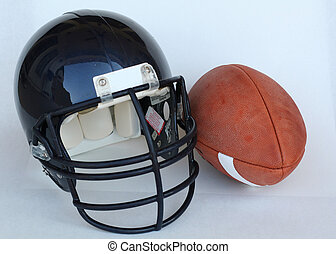 American football by helmet