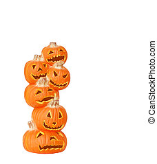 Halloween Pumpkin Stack - Stack of Halloween Pumpkins - A...