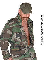 Middle aged pride soldier