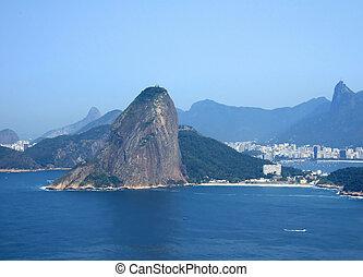 Rio de Janeiro city - View of Rio de Janeiro city entrance,...