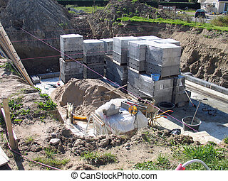 Construction site of a private home