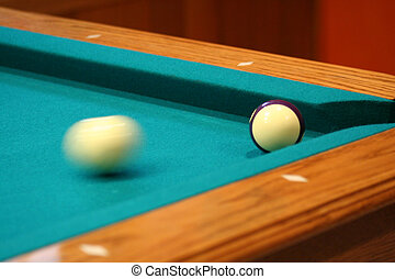 Cue ball in motion