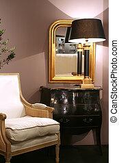 elegant living corner in classic style