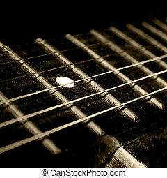 guitar neck - A dark and abstract photo of the guitar...