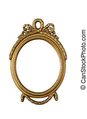 antique golden frame - old oval antique golden frame