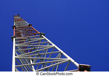 Radio Transmission Tower - An Angled Upward landscape view...