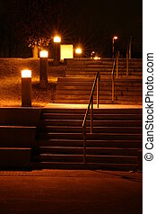 Night Staircases - Vacant staircases at night