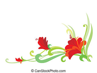 Floral Element jpeg rasterized from vector