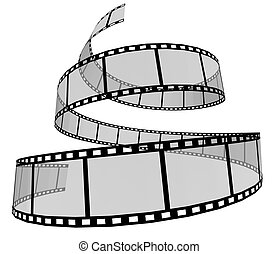 Film Strip - 3d Film Strip. White background.