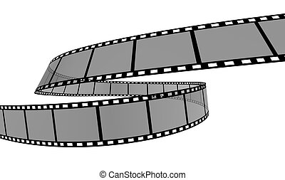 Film Strip - 3d Film Strip White background