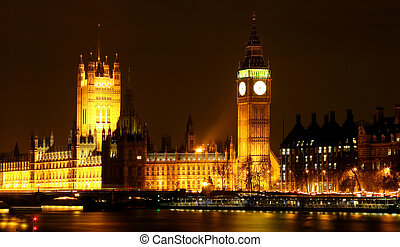 London by the Thames - Night at the parlaiment house