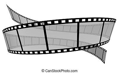 Film Strip - 3d Film Strip White background
