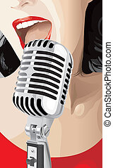 Pop Singer jpeg rasterized from vector