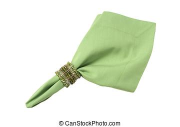napkin ring and napkin - fabric napkin with napkin ring on...