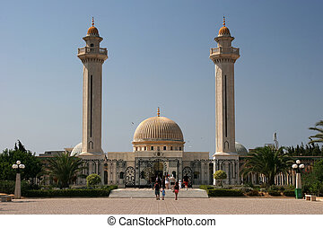Monastir, Tunisia - Mausoleum of Habib Bourgiba, the first...