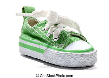 Green Sneaker - Photo of a Green Sneaker - Everyday Object
