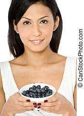 Woman With Blueberries
