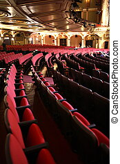 Theater Seats Curved - A house full of empty theater seats