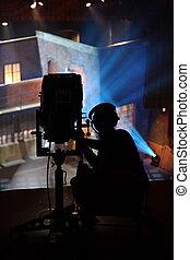Spot Operator - A spot operator working a show