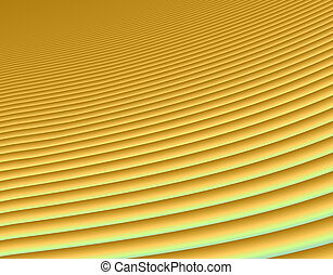 Sand dunes - Fractal rendition of golden sand dunes in a...