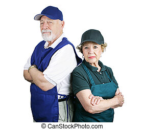 Poor Retirement Planning - Unhappy senior couple forced to...