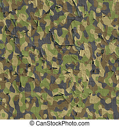 camouflage material - image of old flaking and peeling...