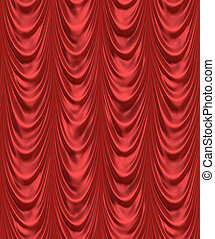 the red curtain - luxurious red velevet curtains such as on...
