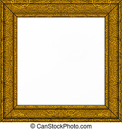 picture frame - an old golden picture or certifcate frame...