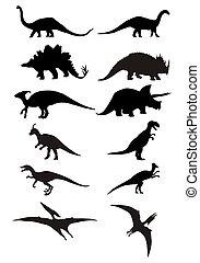 恐竜, シルエット