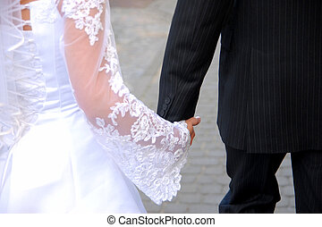 Wedding day - A couple in the wedding day