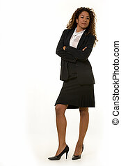 Attractive business woman - Full body of a beautiful young...