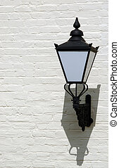 decrative lamp of painted wall