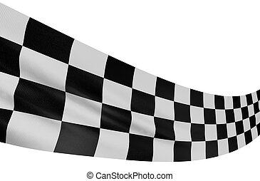Checkered Flag - Large Checkered Flag with fabric surface...
