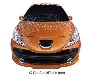 前部, 自動車, オレンジ