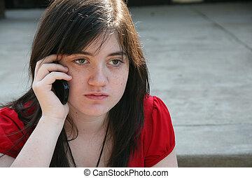 Beatufiul Teen at School - Beautiful 14 year old girl on...