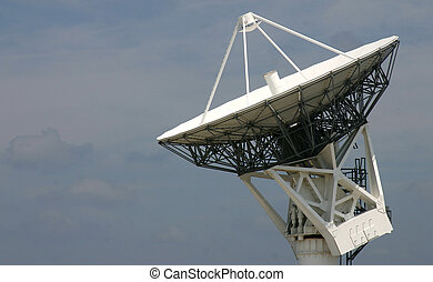 Satellite Dish at a launch tracking station at Kennedy Space...
