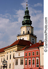 Clock tower in Kromeriz - Kromeriz townscape - beautiful old...