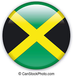 Button Jamaica - Button with map from Jamaica