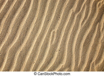 Sand ripples close up background.