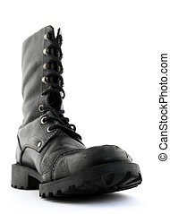 Army style leather boot - Army style black leather boot....