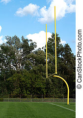 football goal posts - yellow goalposts for an American...
