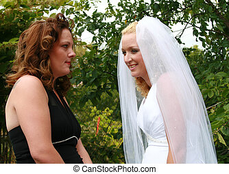 bride and  sister - Bride and her friend