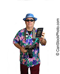 My Passport is a picture of a traveler holding out his...