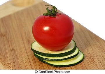 Tomato with zucchini
