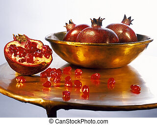 pomegranates - Juicy ripe pomegranates