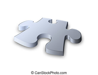 jigsaw piece - the last piece of the puzzle in nice soft...