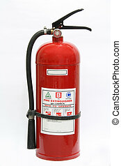 fire extinguisher - dry chemical fire extinguisher isolated...