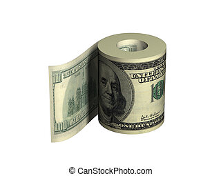 Roll of dollars - Roll of United States dollars