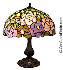 Antique lamp - An Antique lamp with glass shade
